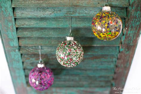 melted crayon art diy christmas ornaments the heathered nest