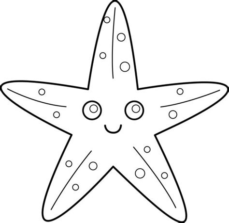template of starfish 28 best clipart images on starfish template bricolage and colouring in
