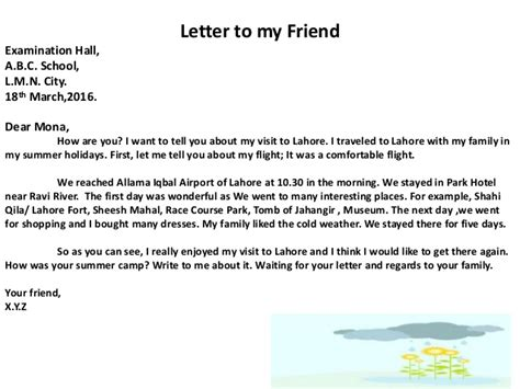 Informal Apology Letter To Friend Informal Letter Writing