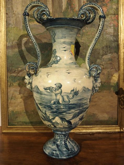 Antique Vases From Italy by Antique Italian Faience Vase From Tuscany Italy At