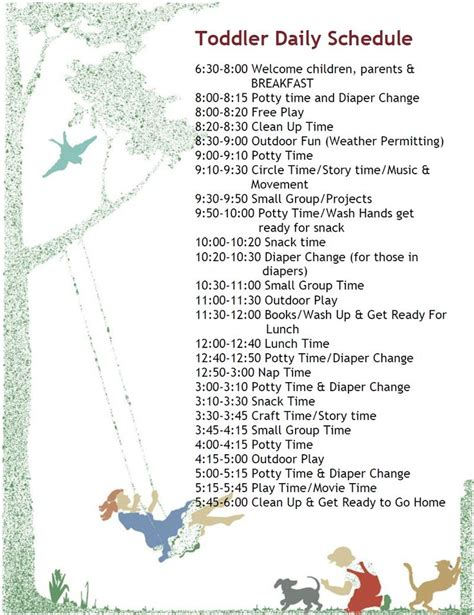 25 best ideas about daycare schedule on pinterest home