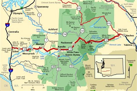 americas byways white pass scenic byway map america s byways
