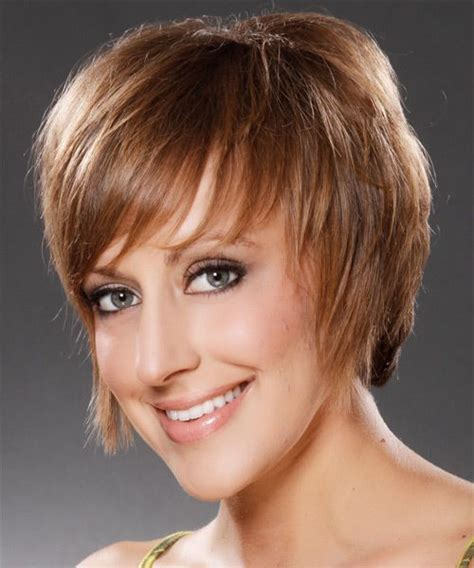 casual hairstyles for medium thin hair short straight casual hairstyle medium brunette caramel
