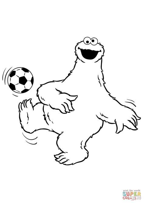 sesame street cookie monster coloring coloring pages