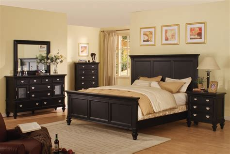 Bedroom Sets In Black | adelaide black bedroom set furtado furniture