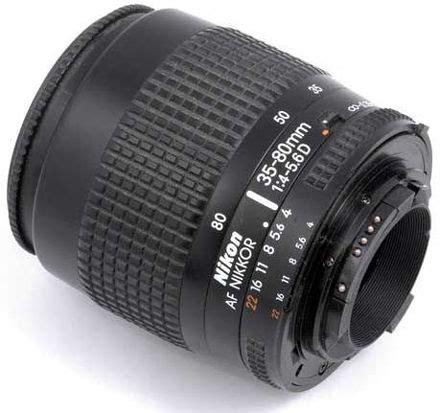 nikon autofocus (af) zoom nikkor 35 80mm f/4~5.6d zoom