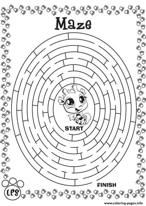 Maze Game Coloring Pages Printable