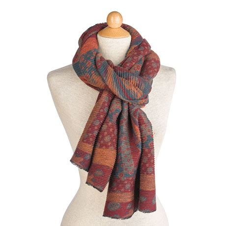 Pashmina Signal pleated desert flower scarf shawl at signals hx2322