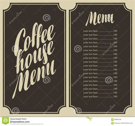 coffee price list template coffee house menu for a price list vector illustration