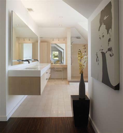 Great Bathroom Designs Back Lit Mirror Atop Cabinets