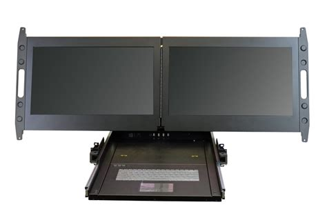 Rack Mount Monitors by Rack Mount Monitor Dual 23 Quot Displays In 2u