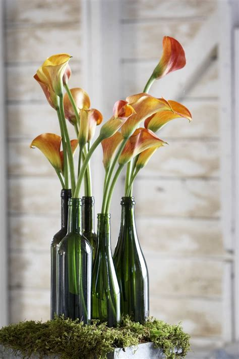 diy projects wine bottle centerpieces