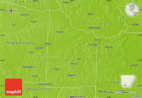 physical map of nevada physical map of nevada county