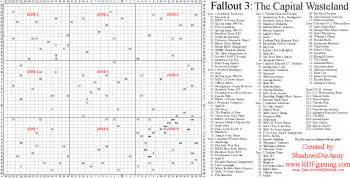 Fallout 3 World Map by Fallout 3 Map Paradise Falls Location Viewing Gallery