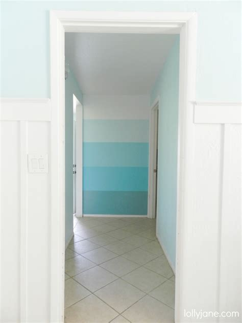 ombre wall hometalk creating an ombre feature wall finish with