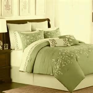 King Size Bedding In A Bag Sets Lake Green Oversize King 8 Comforter Bed In A Bag Set Ebay