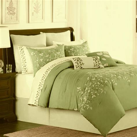 spring lake green oversize king 8 piece comforter bed in a