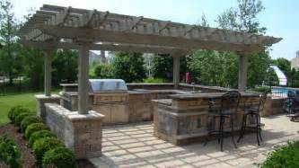 Prefabricated Pergola by Prefab Outdoor Kitchen Kits Are Very Patios And Poolside
