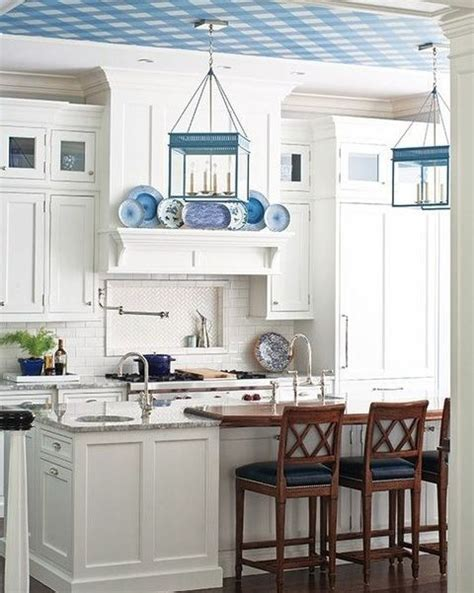 Ordinary Light Blue Kitchen Cabinets #4: Coastal_kitchen_23-comfydwellingcom.jpg