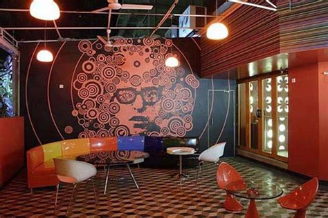 retro interior design cafe planet 3 studio for cafe design ideas in red themes
