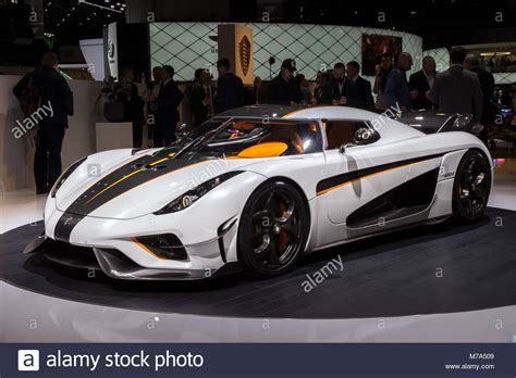 koenigsegg switzerland geneva switzerland march 6 2018 koenigsegg regera