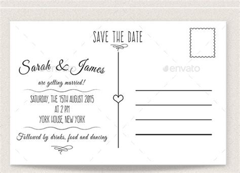 save the date postcard template template design