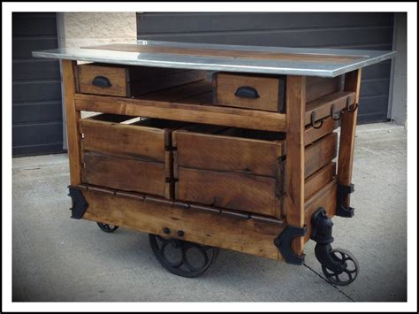island cart kitchen rustic kithcen island cart 6542