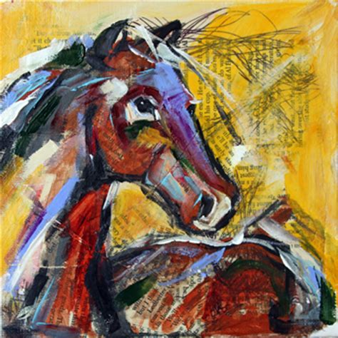 texas contemporary fine artist laurie pace: summer horse
