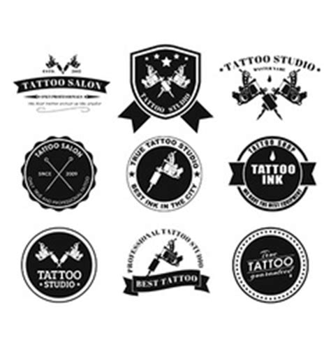 tattoo needles logo tattoo machines 2 royalty free vector image vectorstock