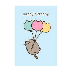 buy the pusheen happy birthday balloons greeting card utility design