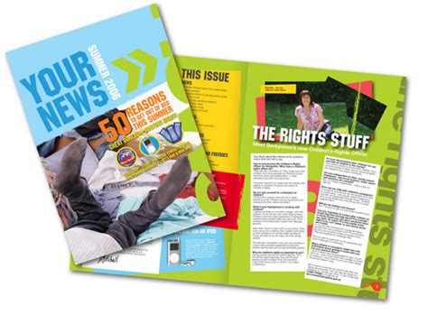 newsletter layout and design derbyshire county council graphic and print design memo