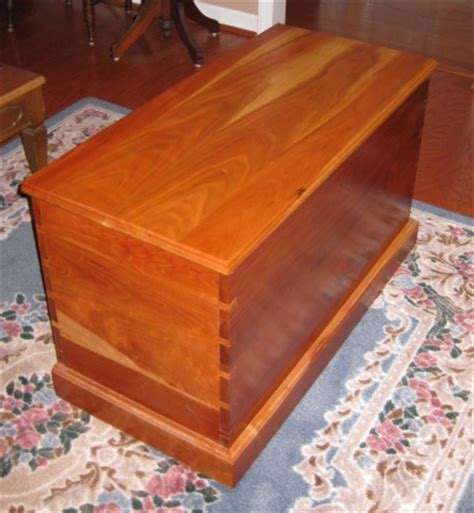 Handmade Cedar Chest - handmade hardwood furniture custom cedar chest
