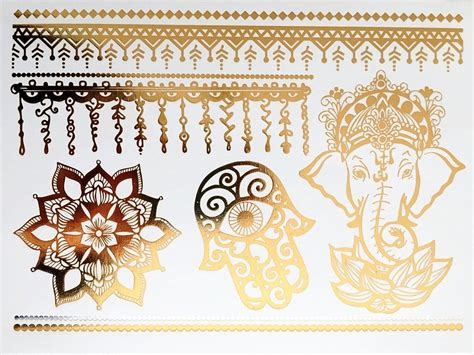 henna tattoo prices in myrtle beach henna metallic gold temporary tattoos tempotats