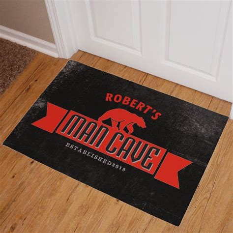 Cave Doormat by Personalized Cave Doormat Cave Welcome Mat