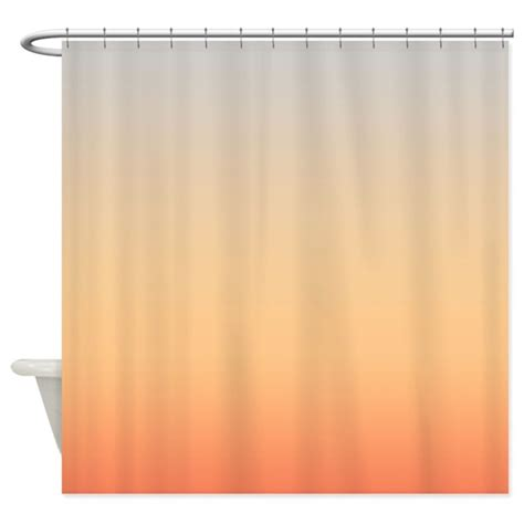 peach colored drapes gray and peach shower curtain by coppercreekdesignstudio