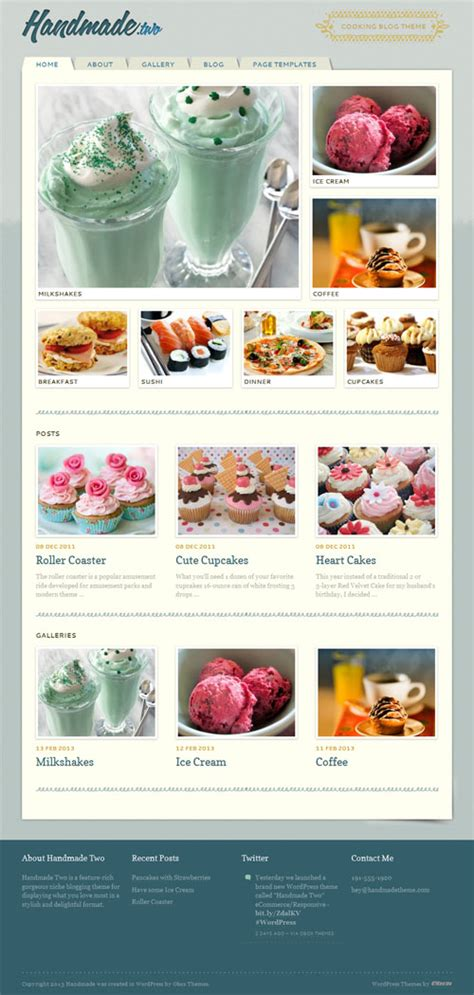 Is Handmade One Word Or Two - handmade two theme for foodies and