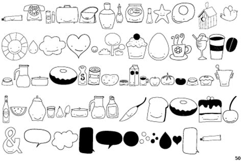 food doodle fonts fontscape home gt pictures gt food and drink