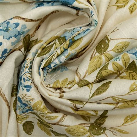Harlequin Upholstery Fabric by Harlequin Designer Cotton Jute Floral Heavy Prints Curtain
