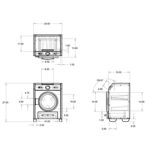 washer and dryer dimensions washer and dryers dimensions of washer and dryer
