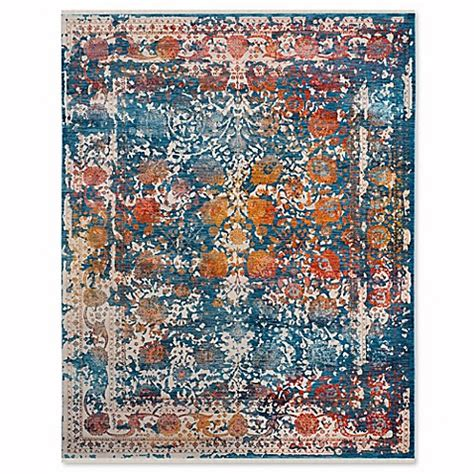 safavieh vintage turquoise multi 8 ft x 11 buy safavieh vintage xerxes 8 foot x 10 foot area rug in turquoise multi from bed bath