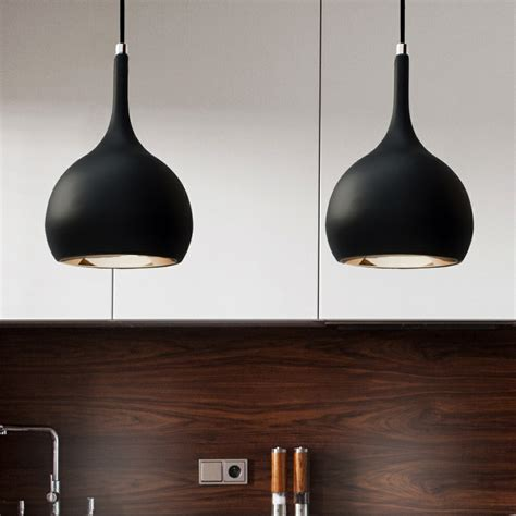 Black Pendant Lights Parma Black Cob Led Kitchen Pendant Lighting
