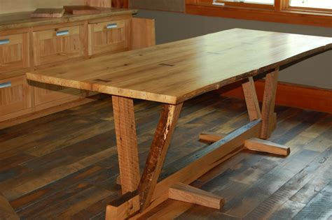 reclaimed wood dining table timber frame study
