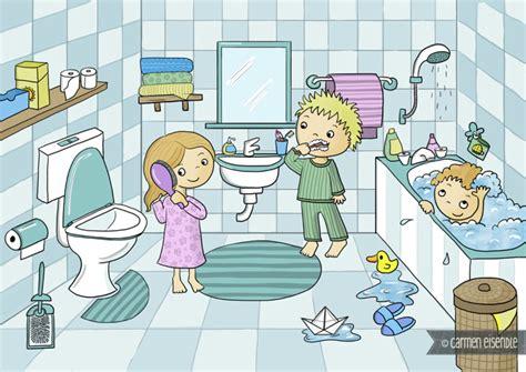 badezimmer comic eisendle illustration 187 badezimmer