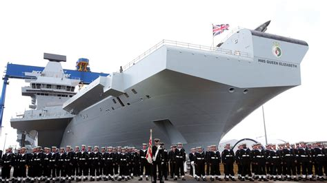Queen Elizabeth Ii Ship by Queen Launches Royal Navy S Newest Carrier Youtube