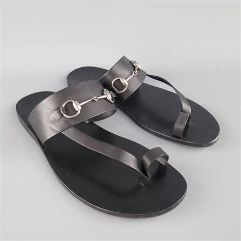Sandal Pria Goodness Loop Black Goodness Footwear Sendal Pria s gucci size 11 black leather silver horsebit toe sandals at 1stdibs