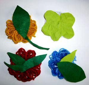 Blumen Aus Wolle Wickeln by Blume Aus Wolle Und Filz Papier Basteln Meine Enkel