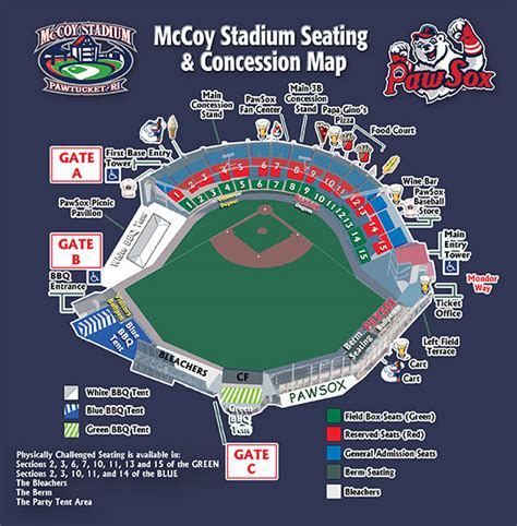 mccoy stadium seating pawtucket sox mccoy stadium