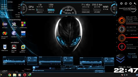 download theme for windows 7 hacker alienware theme will make you as a hacker alienware theme
