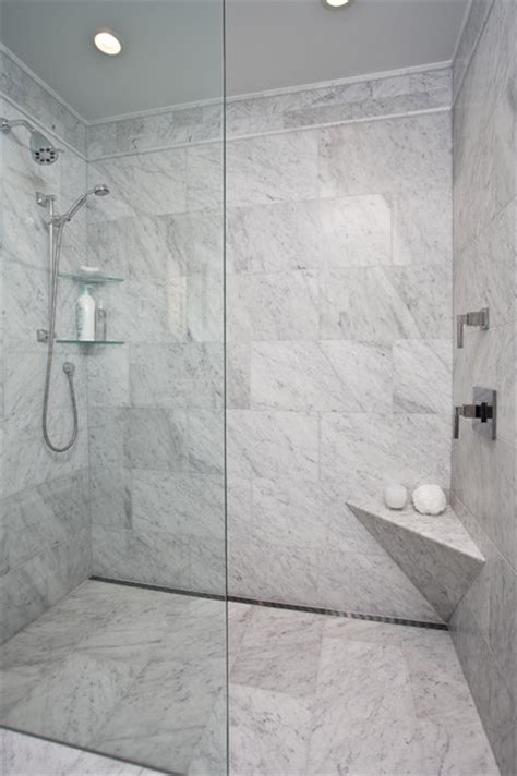bathroom channel drain curbless shower with channel drain contemporary bathroom seattle by creative