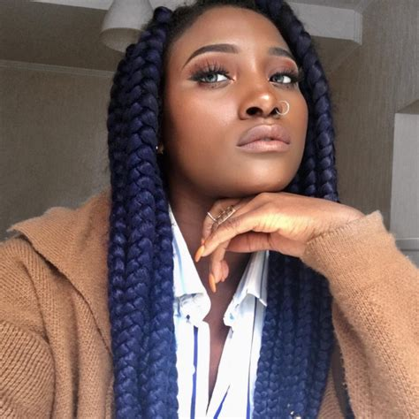 box braids in a bob with blue hair com braided hairstyle ideas inspiration for black women
